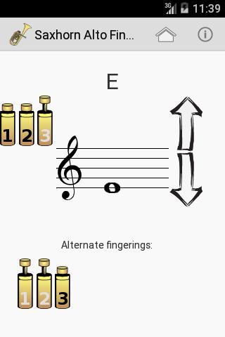 Saxhorn Alto Fingering Chart